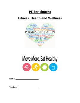 Fitness, Health and Wellness Packet for Elementary School PE