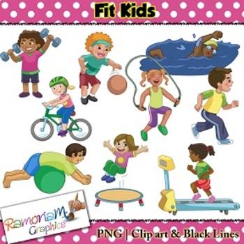 Fitness Kids Clip art