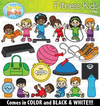 Fitness Kids Clipart Set {Zip-A-Dee-Doo-Dah Designs}