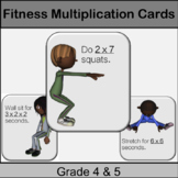 Fitness Multiplication Game: Grade 3, 4, 5: Math in Physed or Math Brain Breaks