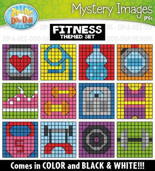 Fitness Mystery Images Clipart {Zip-A-Dee-Doo-Dah Designs}