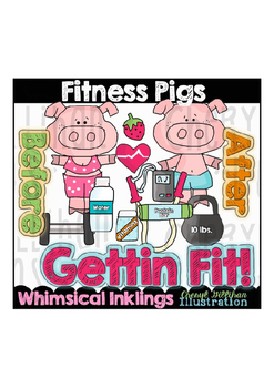 Fitness Pigs Clipart Collection