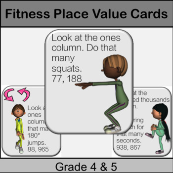 Fitness Place Value Centres Game: Grade 4, 5: Math in PE or Math Brain Breaks