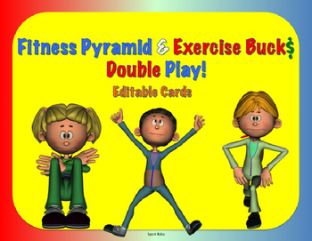 Fitness Pyramid & Exercise Buck$ Combo - Editable