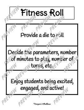 Physical Education Game/Warm up--Fitness Roll