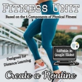 Fitness Routine for Online Distance Learning - Editable in