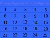 Fitness Squares Animal Movements K-4
