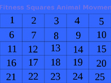 Fitness Squares Animal Movements K-4