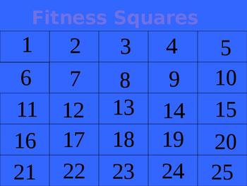 Fitness Squares Grade 5-12