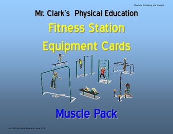 Fitness Station Cards Muscle Pack