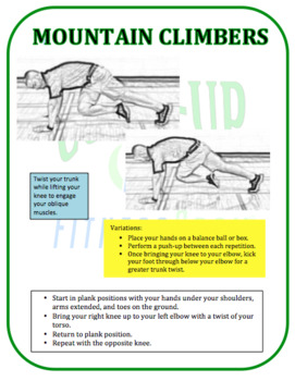 Fitness Test Training Cards: Curl-Up Test
