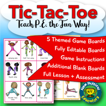 Fitness Tic Tac Toe For Physical Education Elementary By New