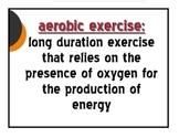 Fitness Vocabulary Cards
