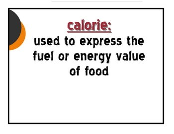 Fitness Vocabulary Cards