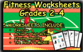 Fitness Worksheets Grades 2-4 (Heart, Exercise, Health)