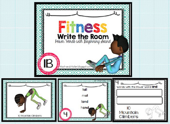 Fitness Write the Room- Sight Word with Beginning Sound