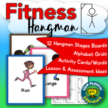 fitness and skill themed hangman for physical education elementary