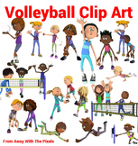 Fitness and Sport Clip Art - 25 Volleyball Images Comercial Use OK
