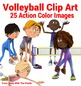 Fitness and Sport Clip Art - 25 Volleyball Images Comercia