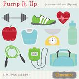 Fitness clip art  - Lovely Clementine