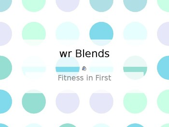 Fitness in First: wr- Blends