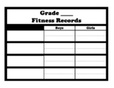 Fitness records (blank form for 4 records)