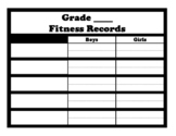 Fitness records (blank form for 5 records)