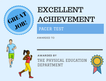 20 Different Fitnessgram Certificates (Bundle Package)