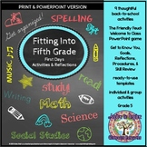 Fitting into Fifth Grade Back to School First Days Activit