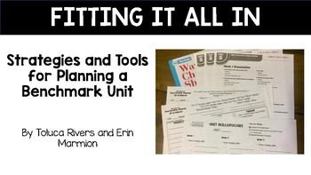 Fitting it all in: Strategies and Tools for Planning a Benchmark Advance Unit