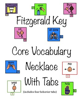 Fitzgerald Key: Core Word/Vocabulary Necklace