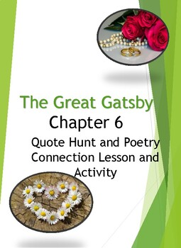 Fitzgerald's The Great Gatsby Chapter 6 QUOTE HUNT ACTIVITY and LESSON