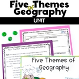 Five Themes of Geography Unit of Notes, Vocabulary. and Ac