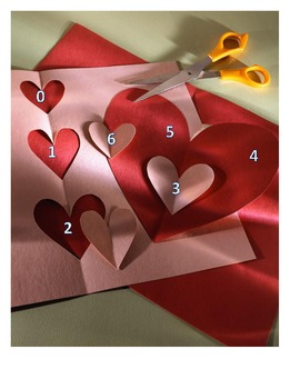 Five 5 math SUBTRACTION stations DICE INCLUDED cover up roll a number Valentine
