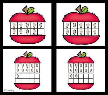 Five APPLE-licious Math Centers FOR LITTLE KIDS