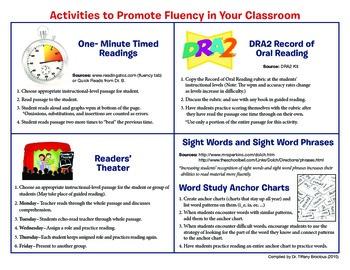 Five Activities to Promote Fluency