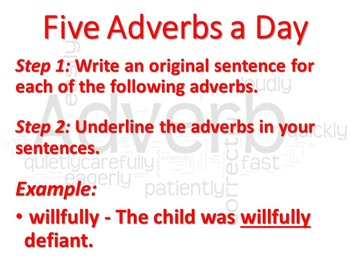 Five Adverbs a Day