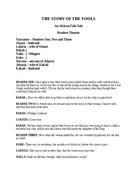 Five African Folk Tales Adapted for Readers Theater