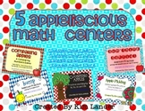 Five Apple-liscious Math Centers