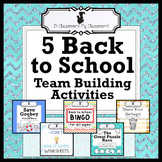 Five Back to School Team Building Activities - Perfect for