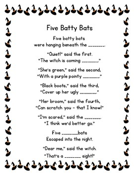 Five Batty Bats Poetry Center Pack