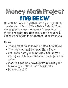 Five Below: Money Math Project