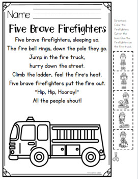 Fire Safety Pocket Chart