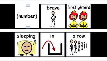 5 Brave Firefighters Vest Display - SymbolStix