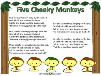 Five Cheeky Monkeys Lyrics