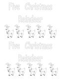 Five Christmas Reindeer-  Kindergarten Emergent Reader