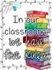 Five Classroom Rules: Colorful Posters for Behavior Management and Encouragement