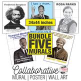Five Collaborative Murals | Black History Month Art Project Bundle