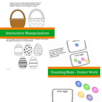 Five Colorful Easter Eggs - A Story, Worksheets and Acitivities