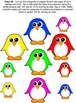 Five Colorful Penguins Standing in Snow Reader FREE Bonus Activities
